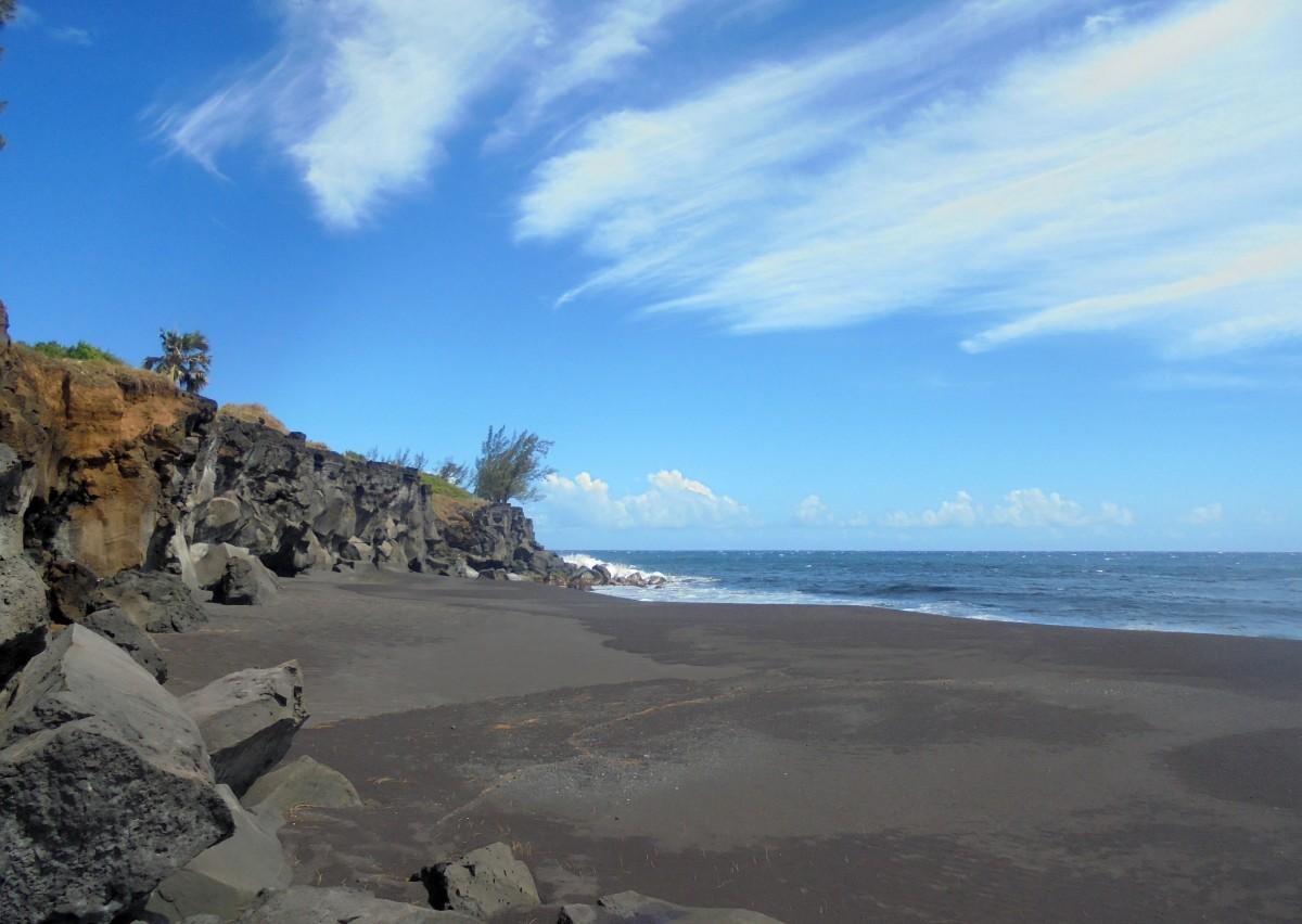 Plage de Ti sable à Saint Joseph, Ile de la Réunion