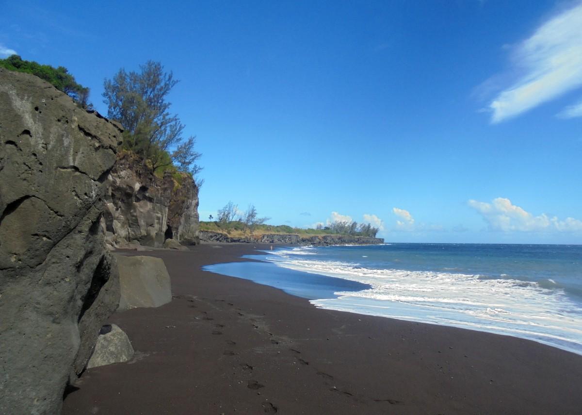 Plage de Ti sable , Saint joseph, ile de la Réunion