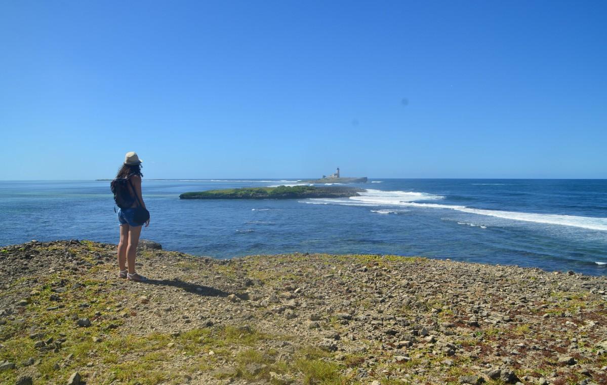 Vue sur l'ile au Phare depuis l'île de la Passe