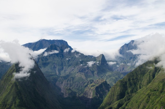 Mafate depuis le Cap Noir, Ile de la Réunion