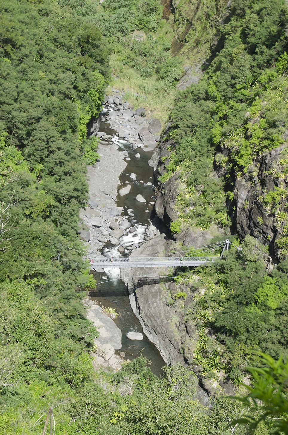 Passerelle à Mafate, Ile de la Réunion