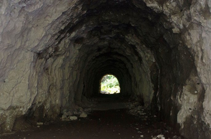 Tunnel à Mafate