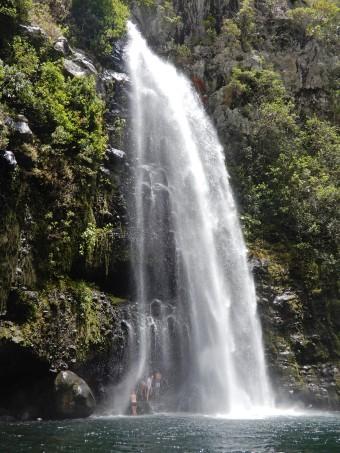 Cascade du voile de la matiée, randonnée Grand Bassin, ile de la Réunion