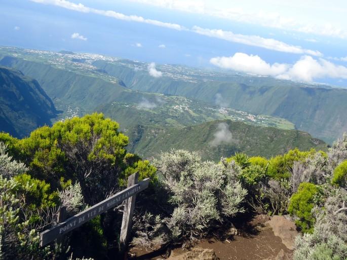 Point de vue du Morne Langevin , la Réunion