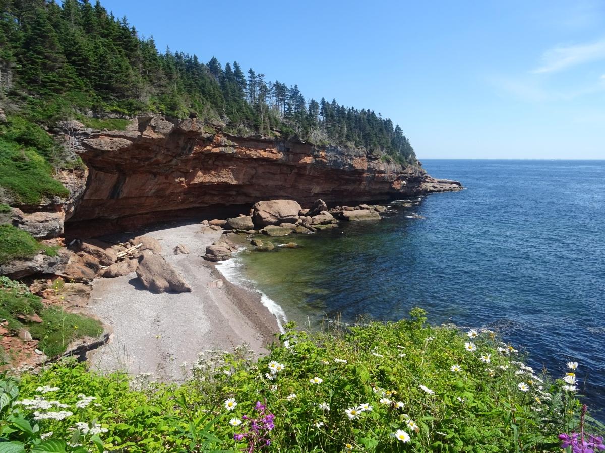 Itinéraire Road trip tour de la Gaspésie Québec Canada Parc national de l'île bonaventure et du rocher percé plage
