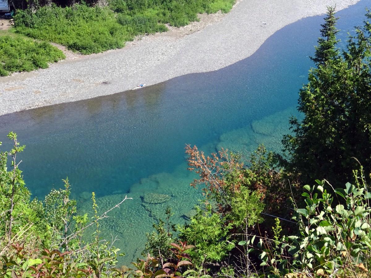 Québec Itinéraire Road trip tour de la Gaspésie Canada Le Malin Rivière Bonaventure eau limpide