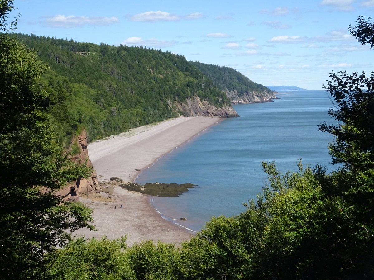 Plage Nouveau Brunswick Canada road trip Fundy trail Melvin beach