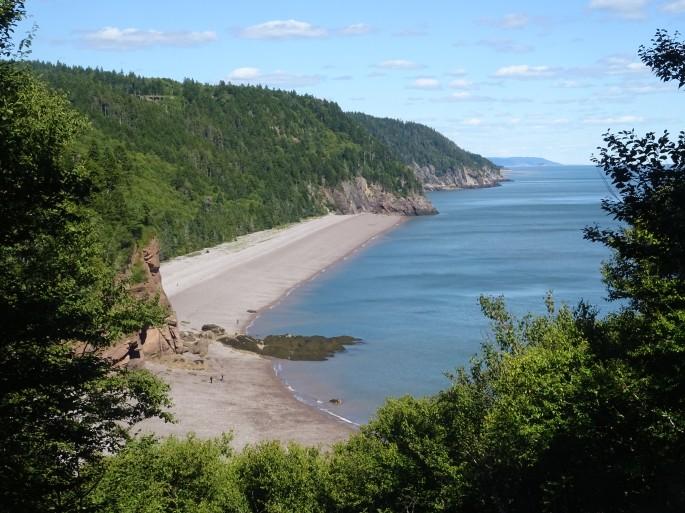 Plage Nouveau Brunswick Canada road trip Fundy trail Melvin beach