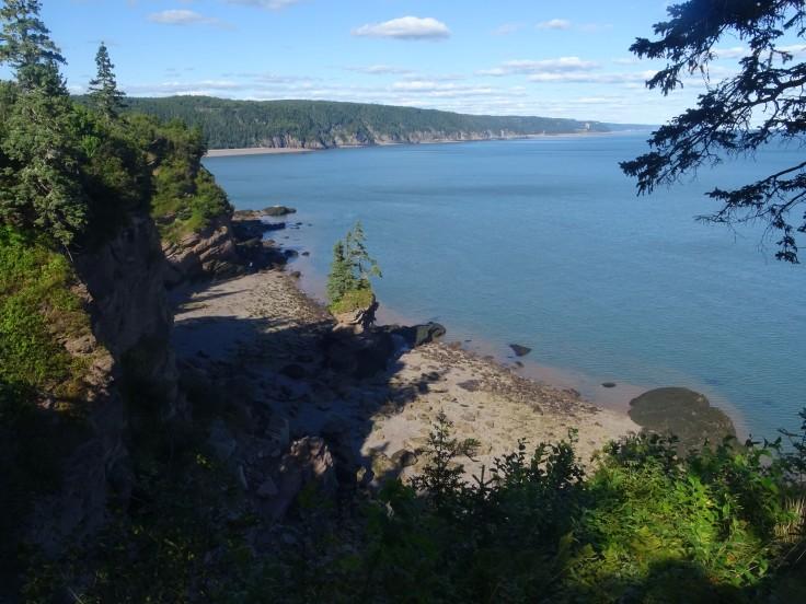 Nouveau Brunswick Canada road trip Fundy trail flower pot rock