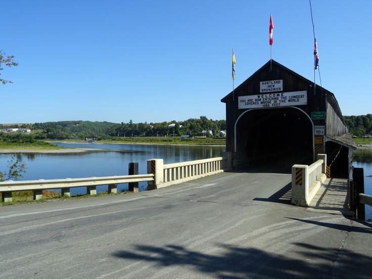 Pont couvert de Hartland Nouveau brunswick canada
