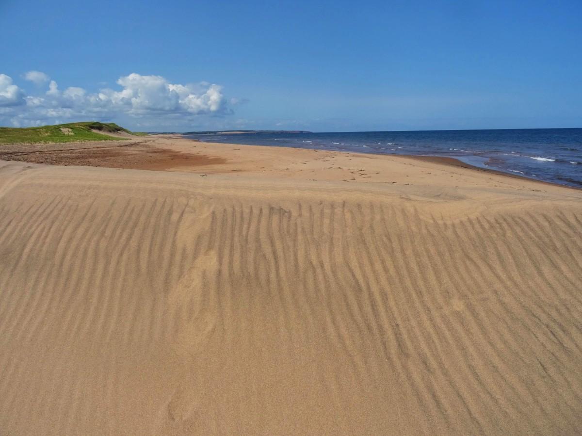 Dunes de sable Plage Canada ile du prince edouard en été Cavendish itinéraire road trip