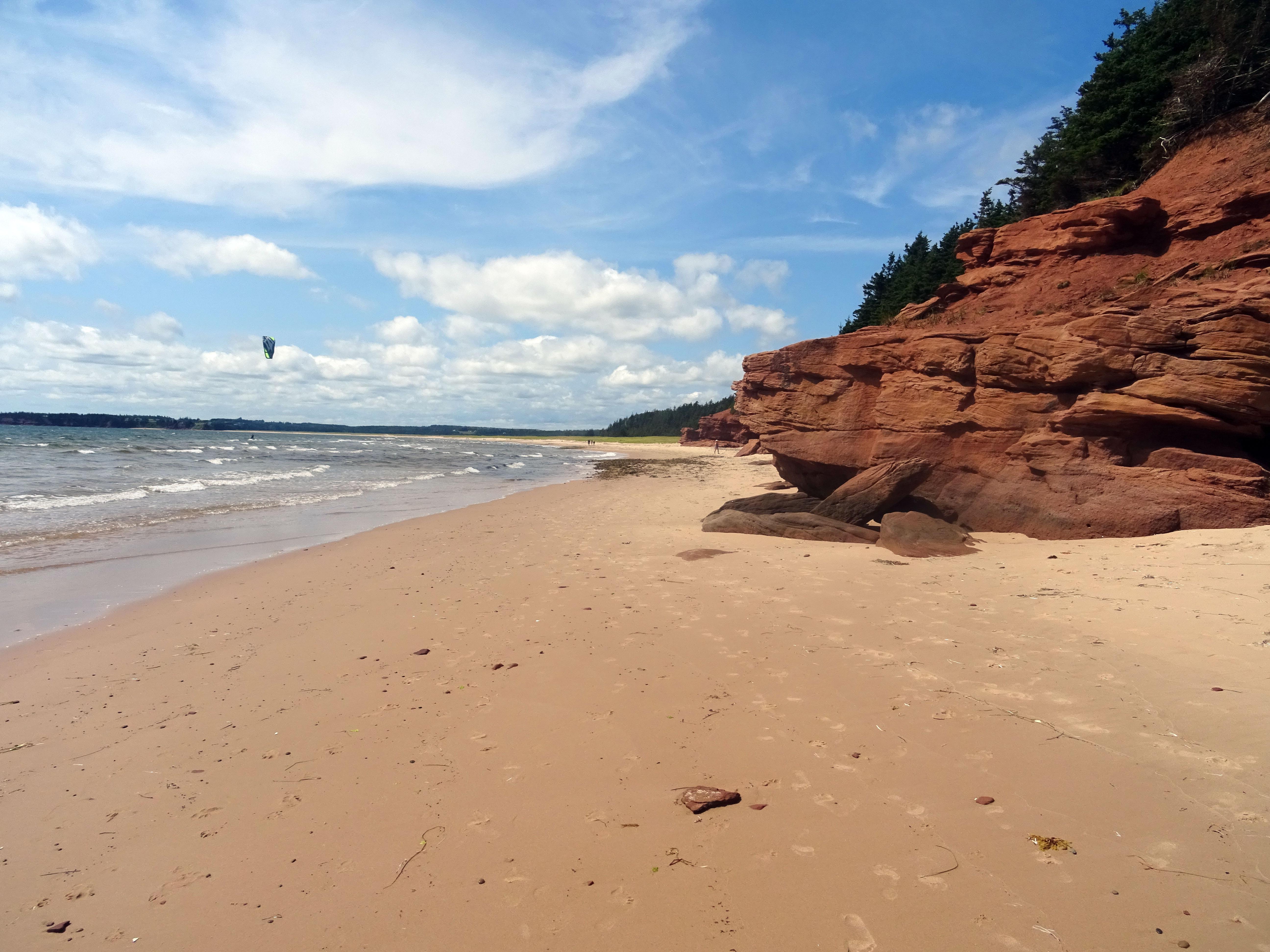 Plage Canada ile du prince edouard Red point provincial park itinéraire road trip est canadien en été