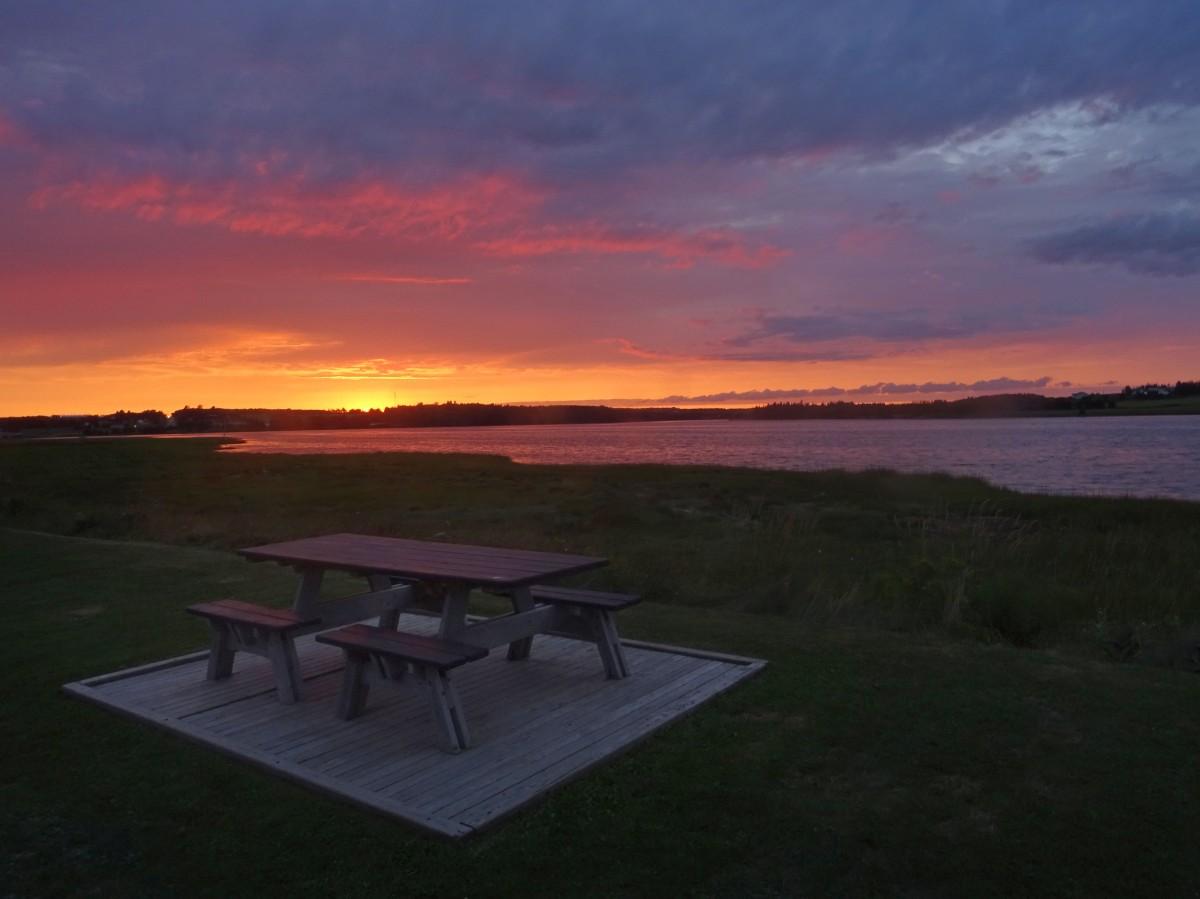Coucher de soleil Canada Souris Ile du prince edouard itinéraire road trip est canadien en été