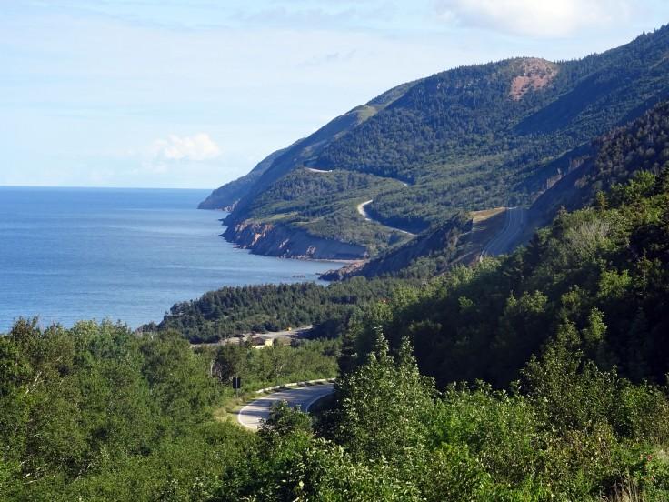 Point de vue su le Cabot trail Cap Breton Nouvelle écosse itinéraire road trip est canadien