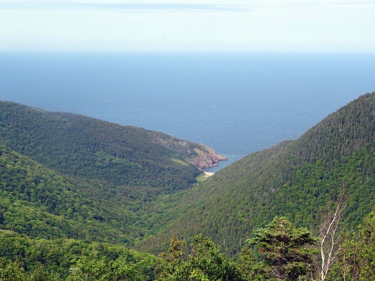 Cabot Trail Point de vue Fishing Cove Parc national Cap Breton Nouvelle écosse itinéraire road trip est canadien