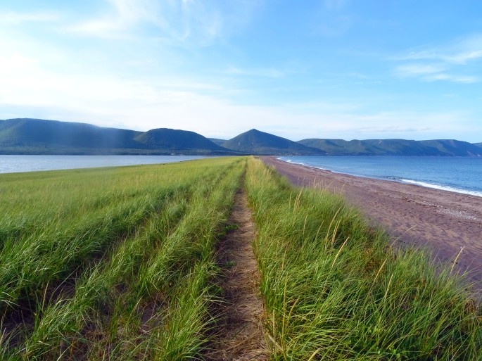 Polletts Cove plage Cap Breton Nouvelle écosse itinéraire road trip est canadien