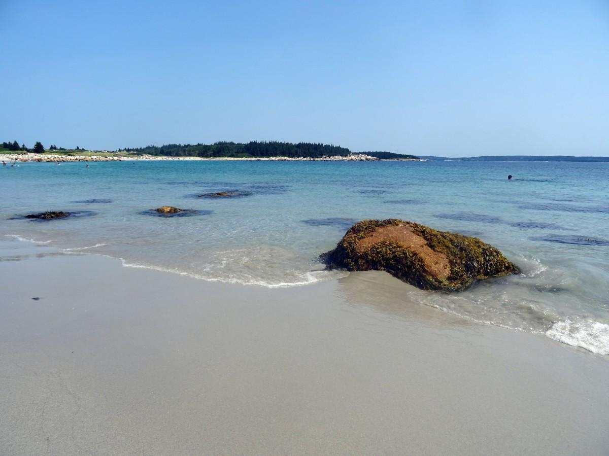 Plage Canada Nouvelle écosse Crystal sand beach itinéraire road trip est canadien