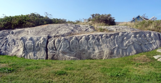 Peggy's Cove William.E deGarthe Memorial Monument Itinéraire road tip est canadien Nouvelle écosse