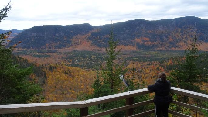 Randonnée paysage automne à proximité de Québec Canada, Vallée Bras du Nord