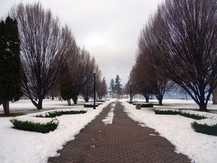City Park Kelowna Vallée d'Okanagan en hiver