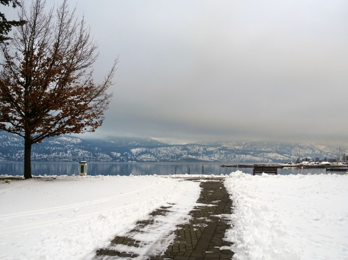 Kelowna, Okanagan Valley in winter, British Columbia