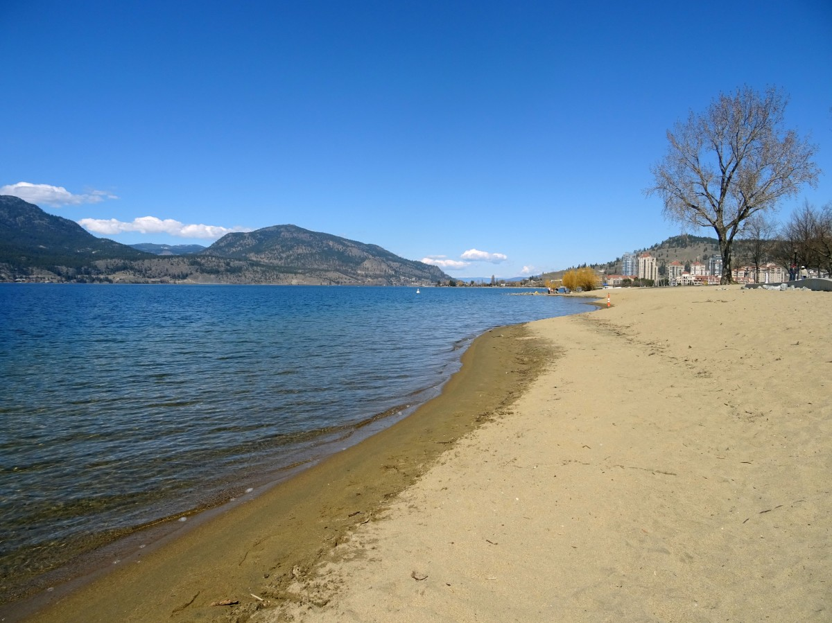 City park en été, Kelowna, Okanagan valley, Canada