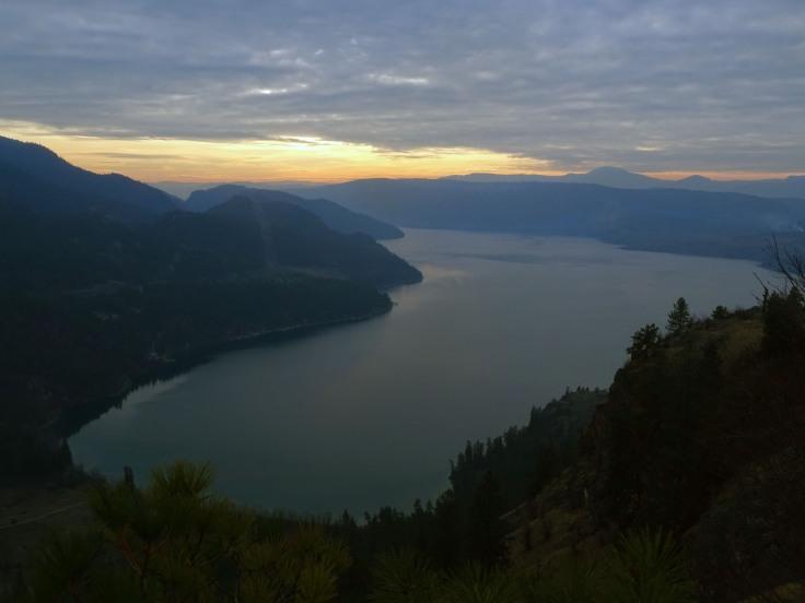 Randonnée Kalamalka lake, Vernon, British Columbia Canada