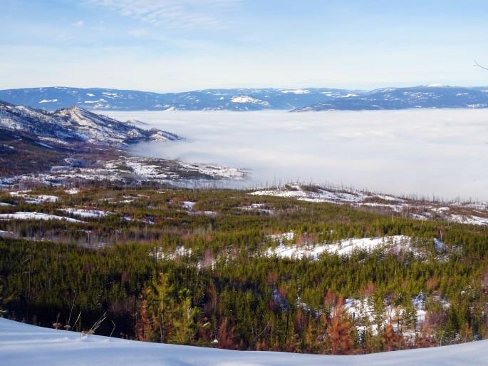 Randonnée Canada hiver Kelowna Kettle valley railway naramata section okanagan valley
