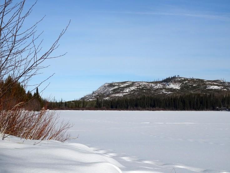 Randonnée Canada hiver Kelowna Kettle valley railway naramata section okanagan valley lac gelé