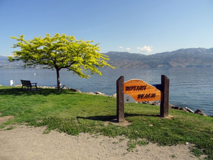 Rotary beach Westbank, Okanagan Valley, Canada