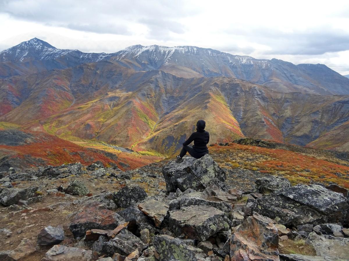 Randonnée Goldensides au parc territorial de Tombstone, Yukon, Canada