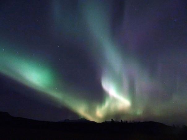 Aurores boréales actives au Canada, Whitehorse, Yukon Territory