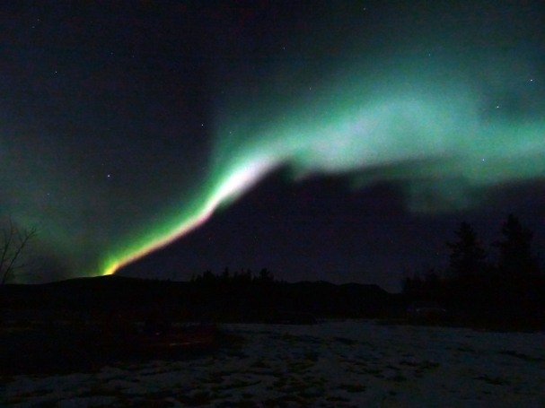 Aurore boréale à Whitehorse, Yukon, Canada