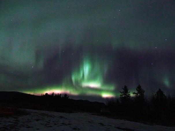 Aurores boréales à Whitehorse, Yukon Territory, Canada