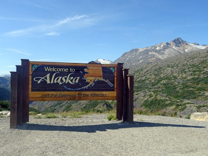 Sur la route de Skagway, Alaska