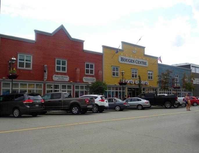La ville de Whitehorse au Yukon, Canada