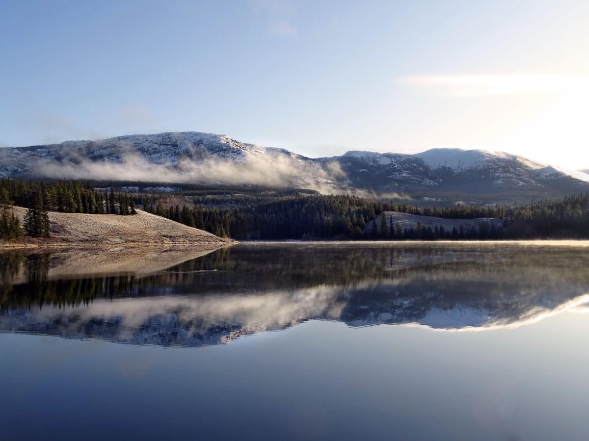 Randonnée facile Whitehorse Hidden lake, Yukon, Canada