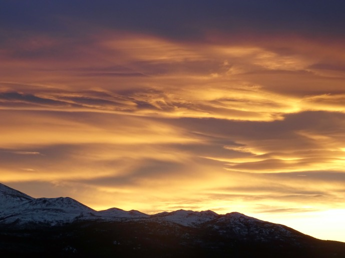 Coucher de soleil au Yukon, Canada