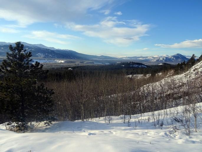 Randonnée Takhini hot springs hill top trail