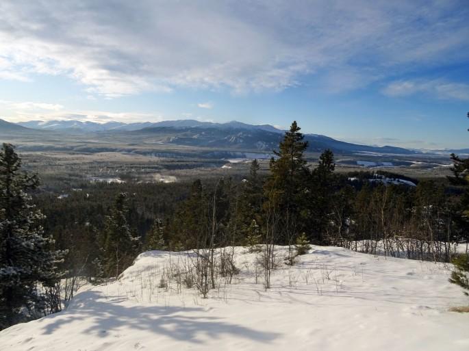Randonnée Takhini hot spring Hill top trail Yukon Canada