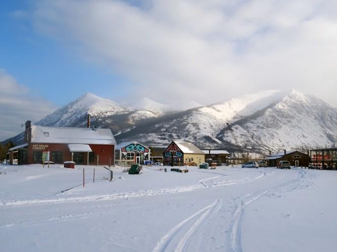 Carcross en hiver, Yukon, Canada