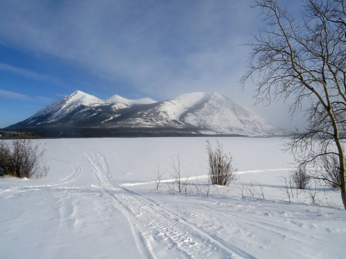 Le Lac Bennett en hiver, Carcross, Canada