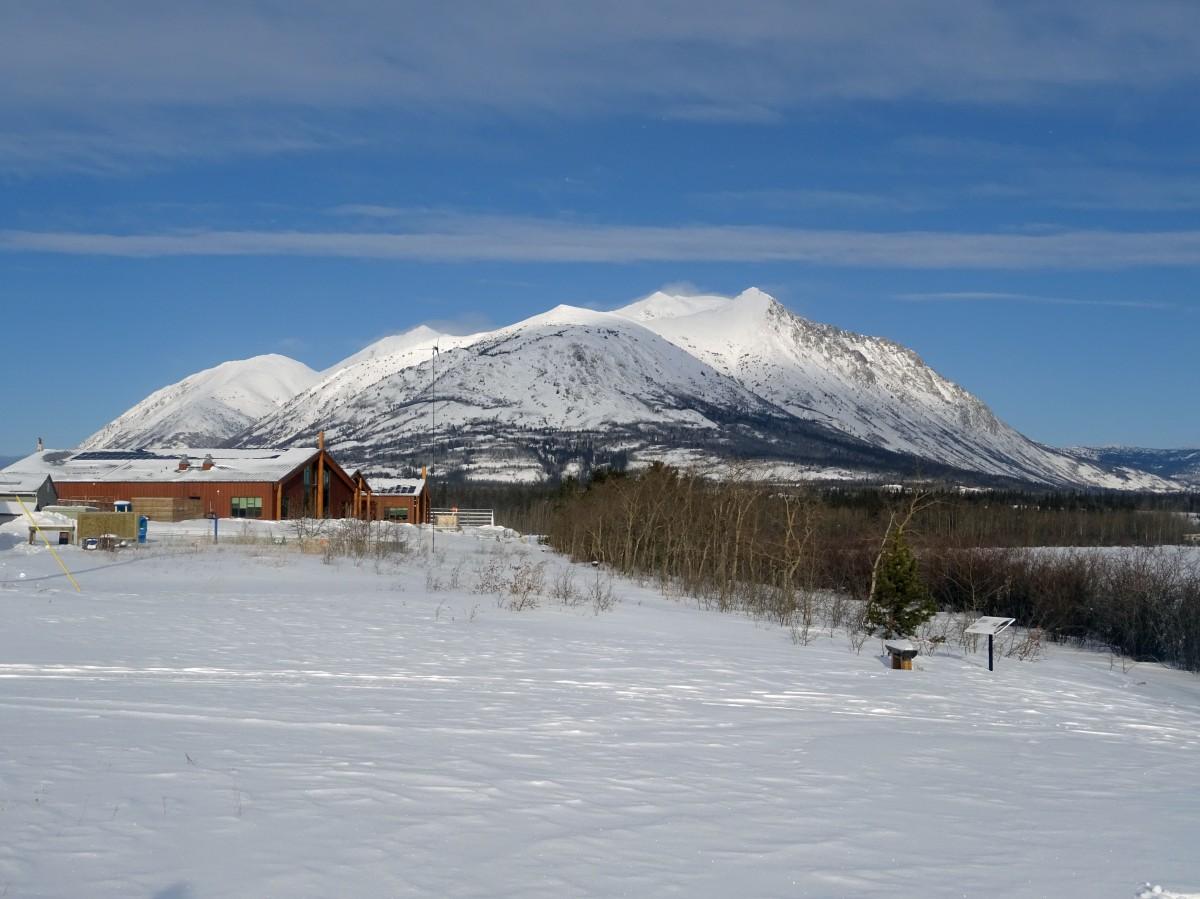 Lac Bennett en hiver, Carcross, Yukon, Canada