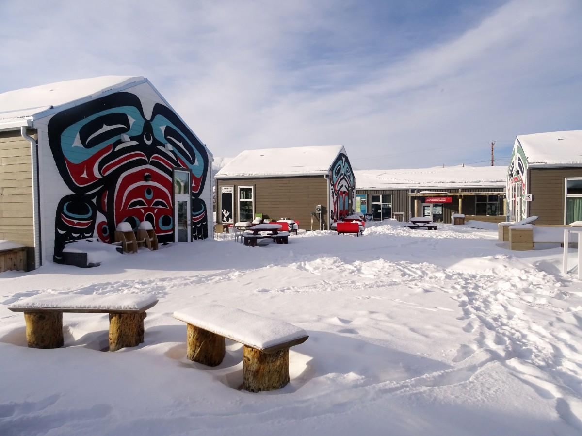 Village de Carcross en hiver, Yukon, Canada