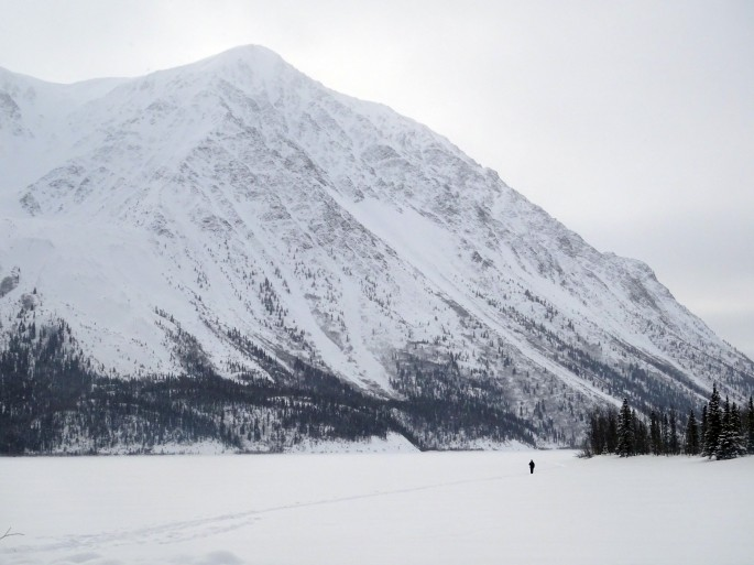 Kathleen lake en hiver, Kluane national park, Yukon, Canada