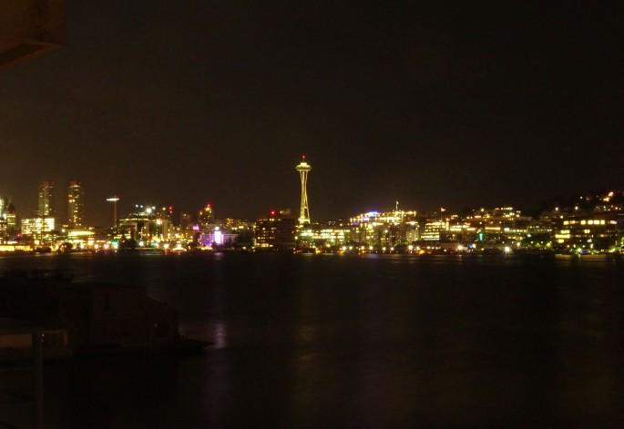 Vue de nuit sur Seattle, Etats-Unis