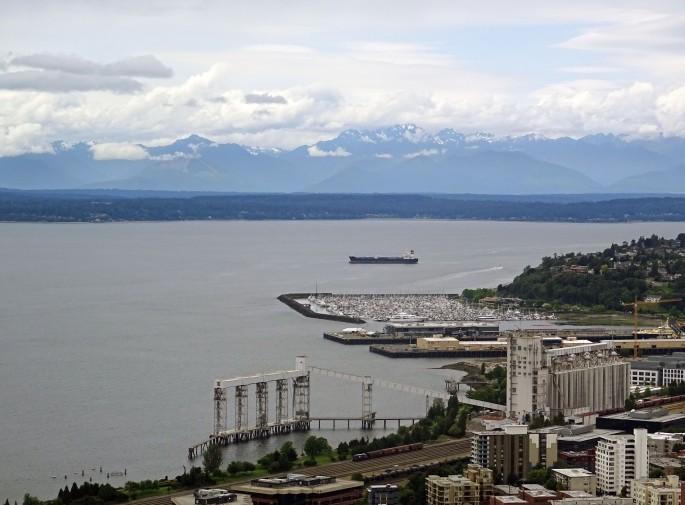 Vue sur Seattle depuis le Space Needle