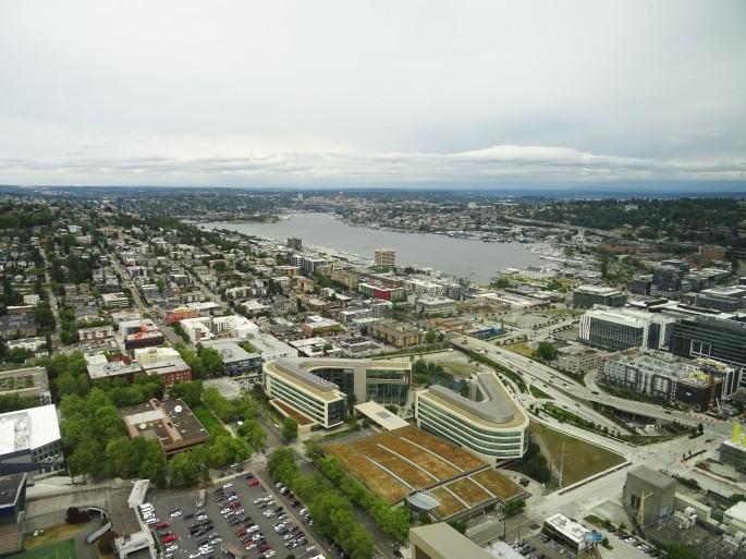 Vue sur Seattle depuis la Tour d'observation du Space Needle