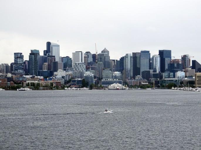Vue sur Seattle depuis Gas Works Park
