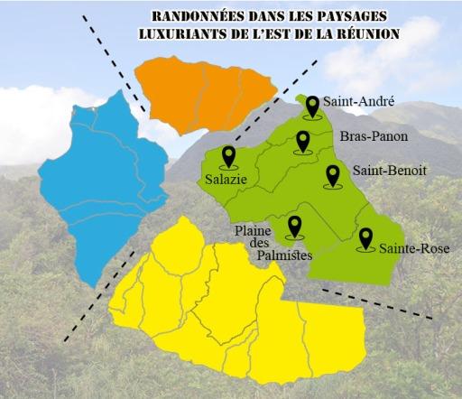 Randonnées dans L'Est, île de la Réunion